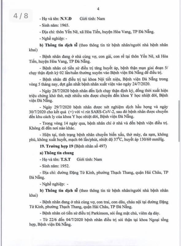 Đà Nẵng thông tin về lịch trình phức tạp của 10 ca COVID-19 - ảnh 4
