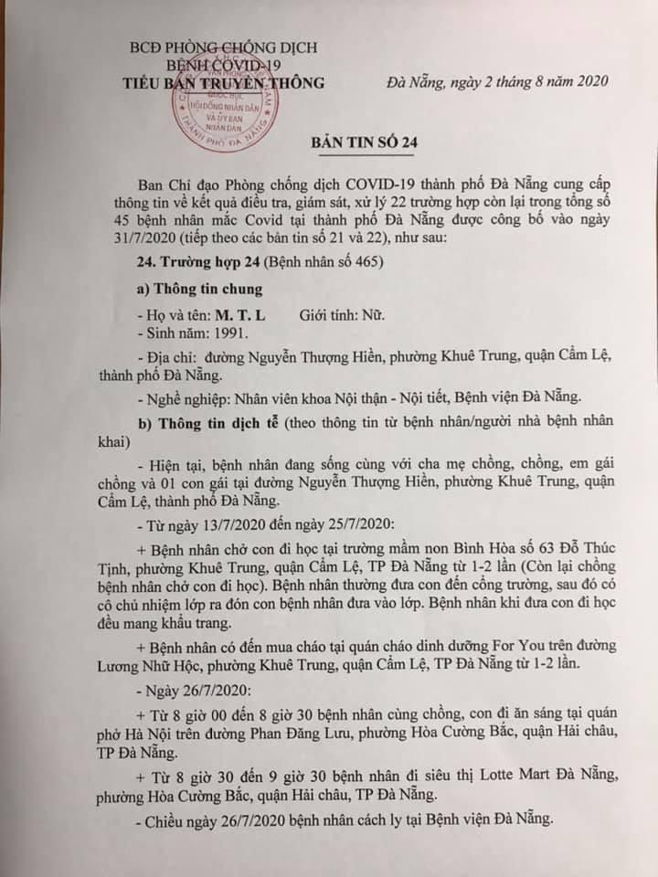 1 bệnh nhân COVID-19 tại Đà Nẵng không hợp tác khai báo - ảnh 1