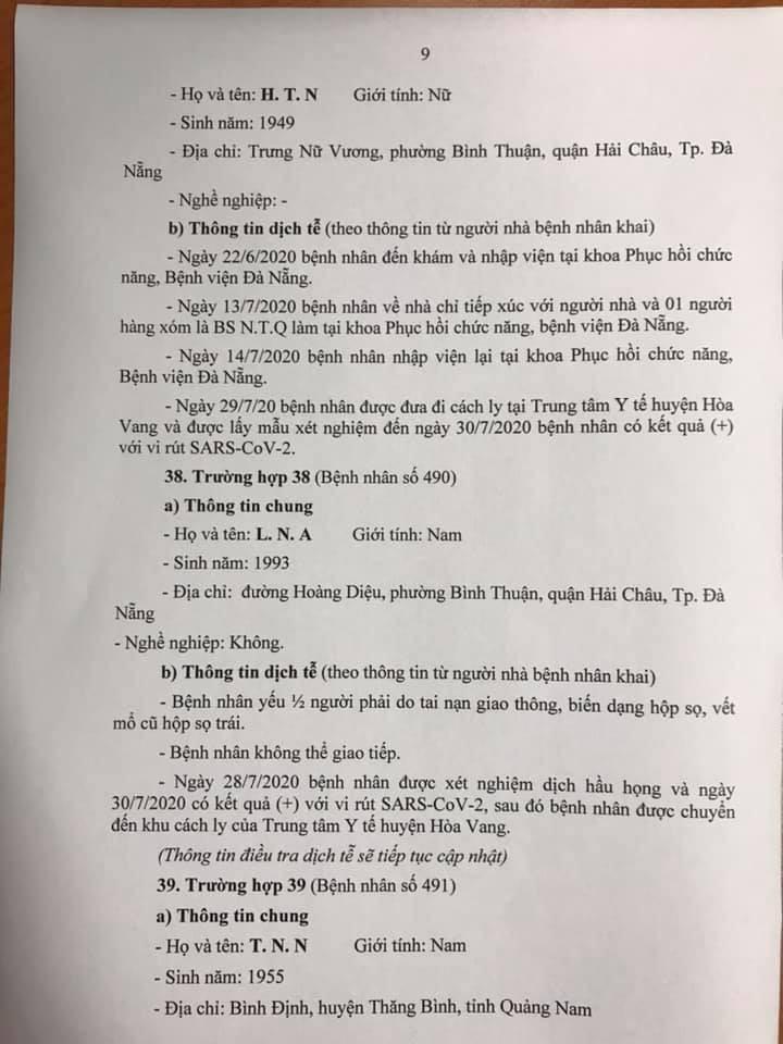 1 bệnh nhân COVID-19 tại Đà Nẵng không hợp tác khai báo - ảnh 9