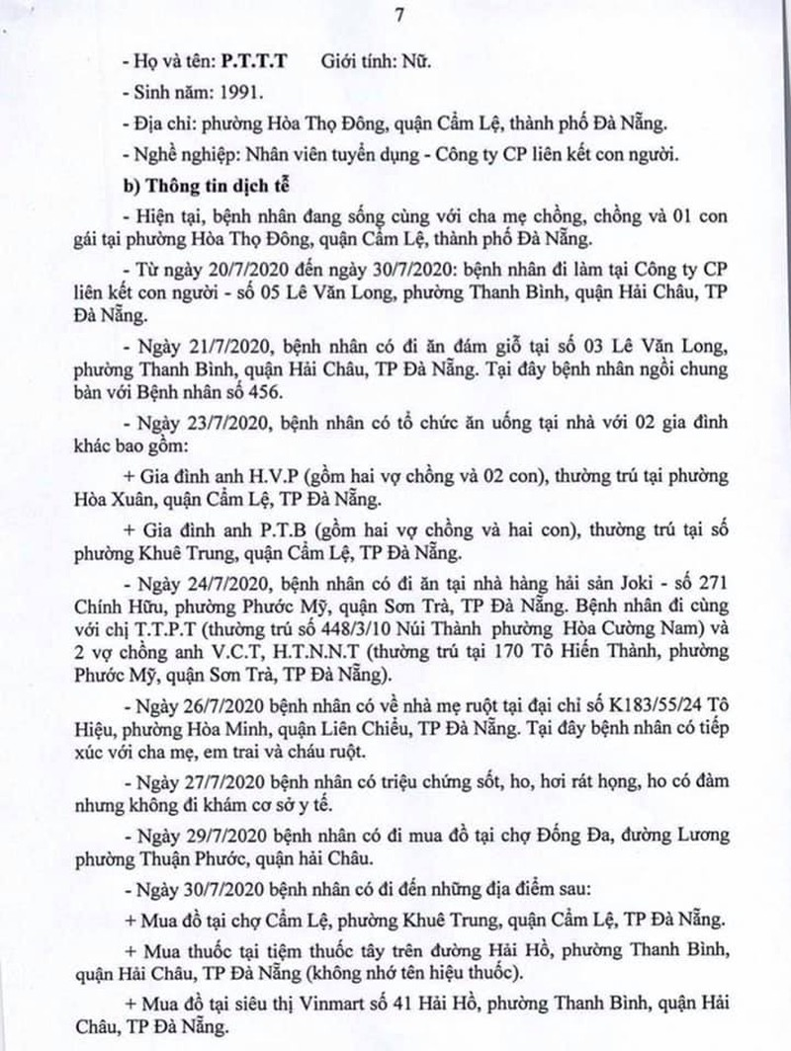 Một bệnh nhân COVID-19 tại Đà Nẵng dự 2 đám cưới - ảnh 7