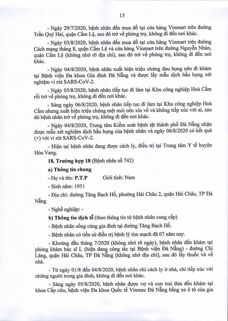 Đà Nẵng: 1 cán bộ Quận ủy Hải Châu nhiễm COVID-19 - ảnh 15