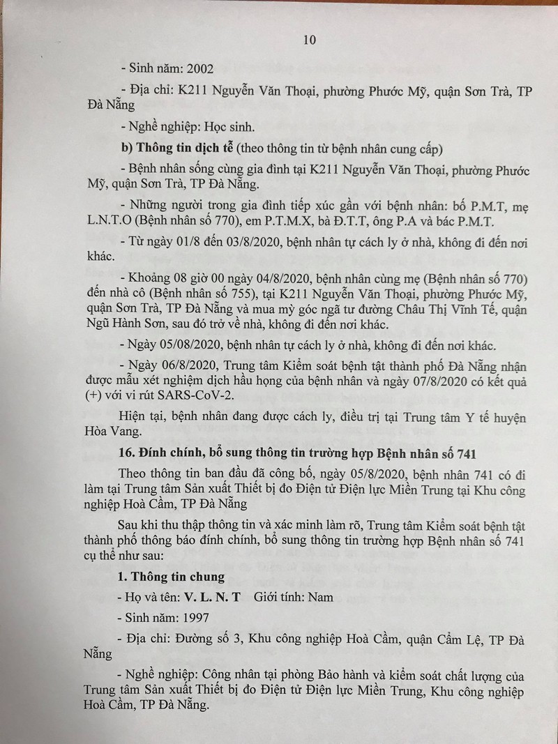 15 ca COVID-19 mới ở Đà Nẵng đã tiếp xúc với những ai? - ảnh 10