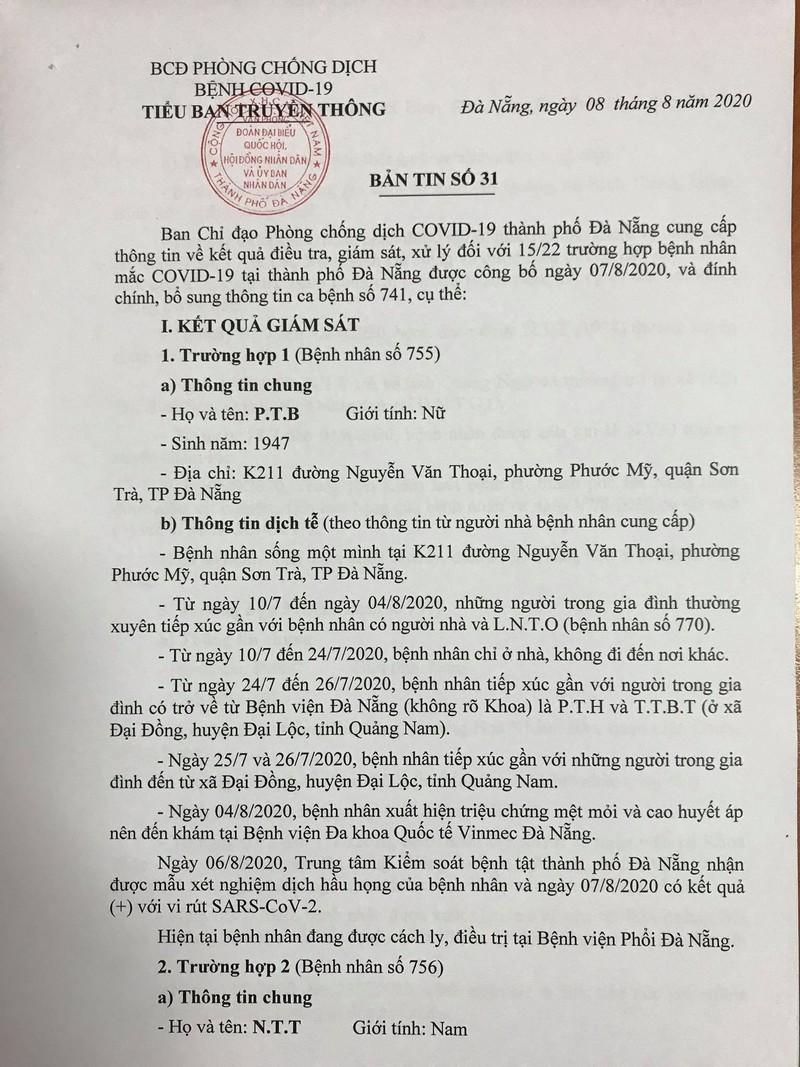 15 ca COVID-19 mới ở Đà Nẵng đã tiếp xúc với những ai? - ảnh 1
