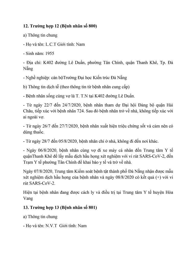 Cán bộ Thanh tra TP Đà Nẵng mắc COVID-19 đi rất nhiều nơi - ảnh 12
