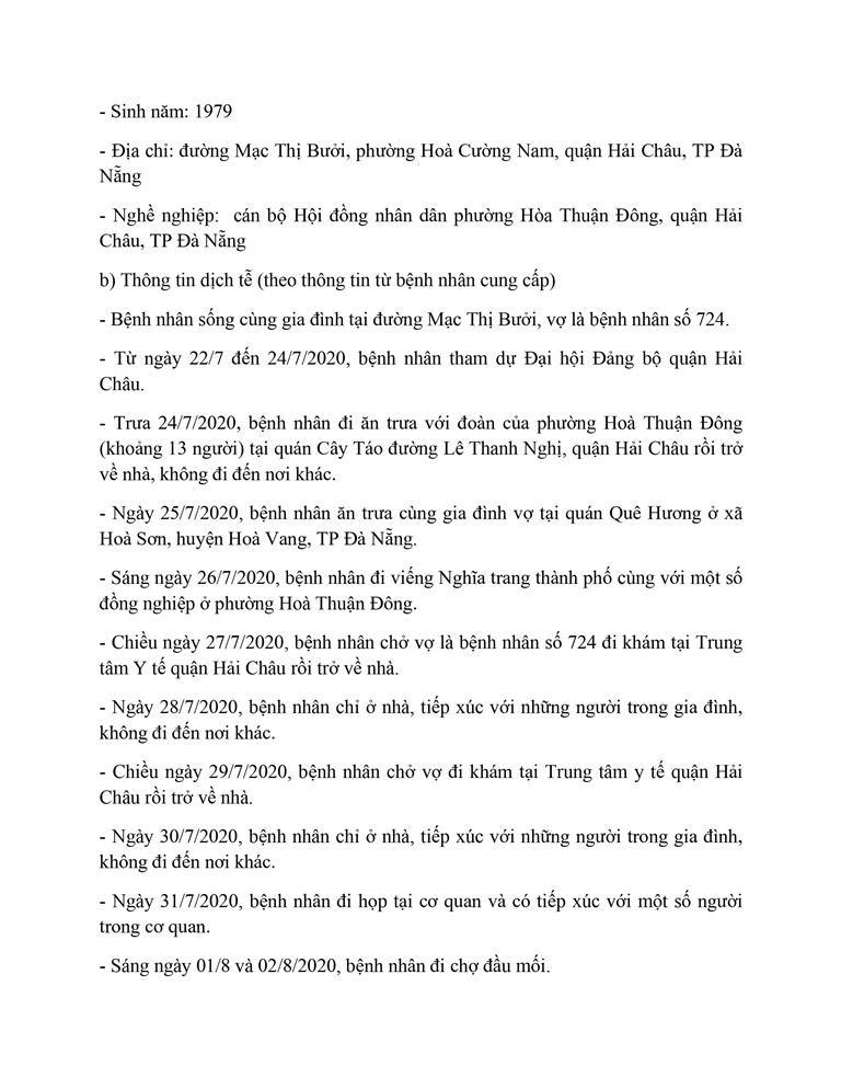 Cán bộ Thanh tra TP Đà Nẵng mắc COVID-19 đi rất nhiều nơi - ảnh 13