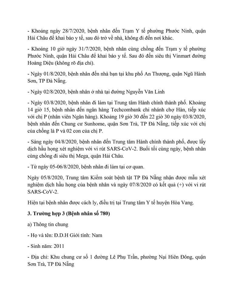 Cán bộ Thanh tra TP Đà Nẵng mắc COVID-19 đi rất nhiều nơi - ảnh 3