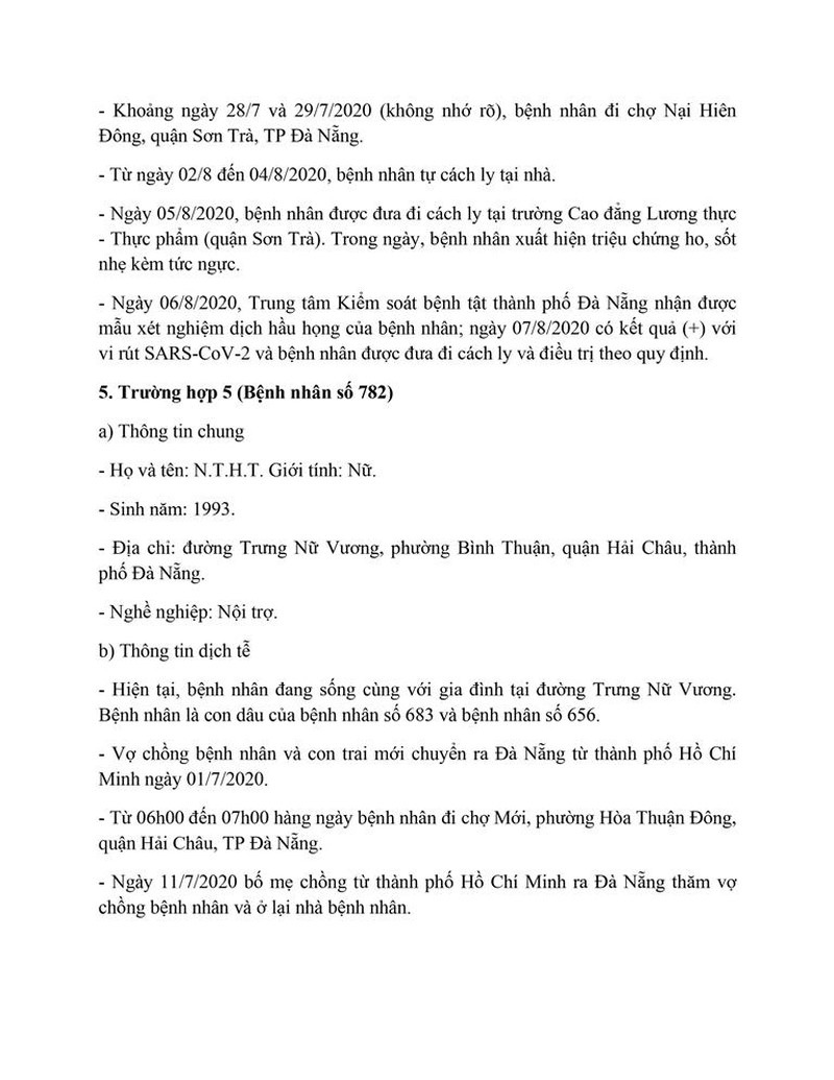 Cán bộ Thanh tra TP Đà Nẵng mắc COVID-19 đi rất nhiều nơi - ảnh 5