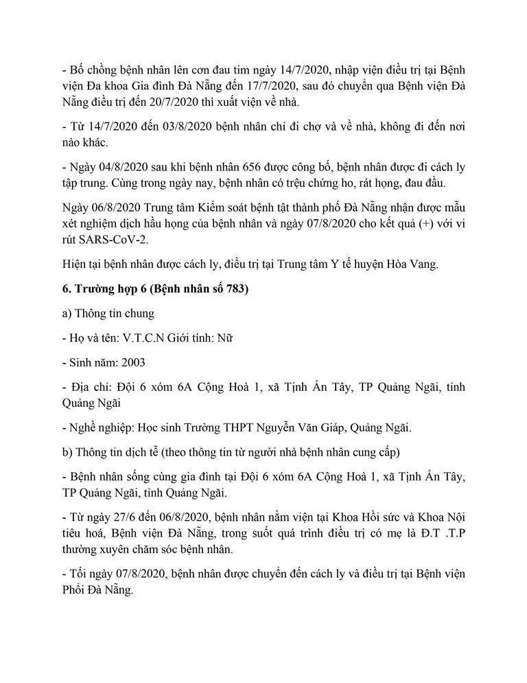 Cán bộ Thanh tra TP Đà Nẵng mắc COVID-19 đi rất nhiều nơi - ảnh 6