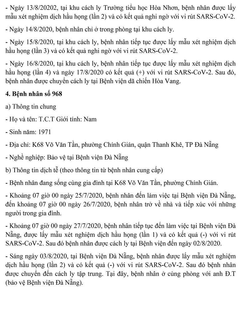 Bảo vệ BV Đà Nẵng mắc COVID-19 từng 3 lần xét nghiệm âm tính - ảnh 4