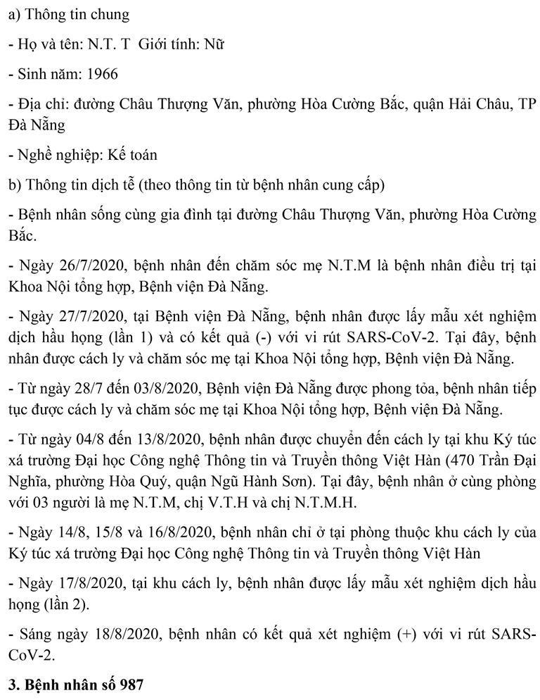 Đà Nẵng: Lịch trình của tiểu thương chợ đầu mối mắc COVID-19  - ảnh 2