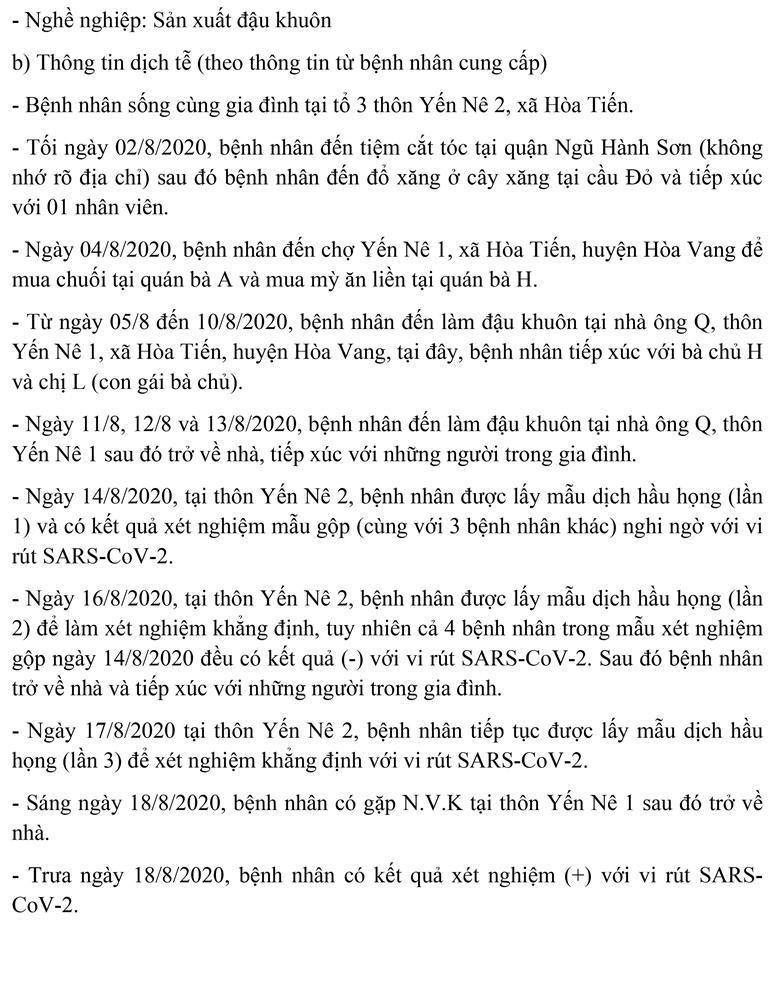 Đà Nẵng: Lịch trình của tiểu thương chợ đầu mối mắc COVID-19  - ảnh 6