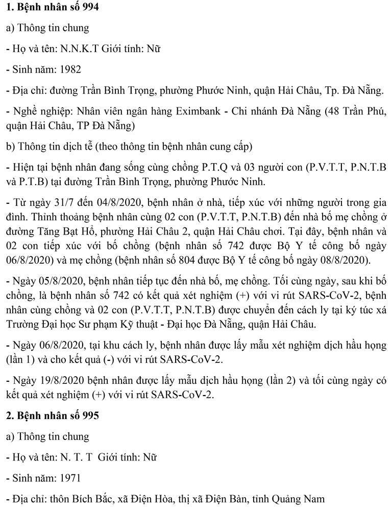 Đà Nẵng: Lịch trình di chuyển của 11 ca mắc COVID-19 mới  - ảnh 1