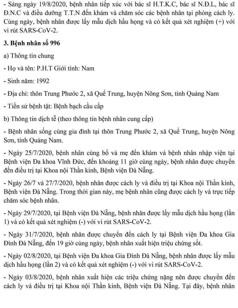Đà Nẵng: Lịch trình di chuyển của 11 ca mắc COVID-19 mới  - ảnh 3