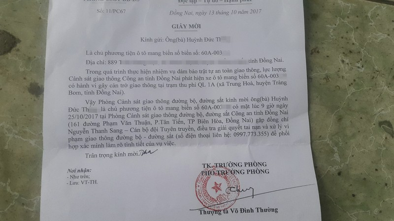 CSGT mời tài xế liên quan BOT Biên Hòa đến làm việc - ảnh 2