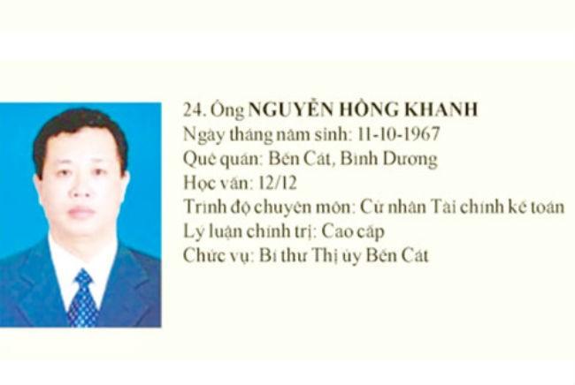 Khởi tố, bắt giam nguyên bí thư thị xã Bến Cát - Bình Dương  - ảnh 1