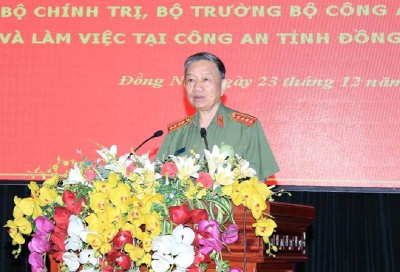 Bộ trưởng Tô Lâm làm việc với Công an Đồng Nai  - ảnh 1