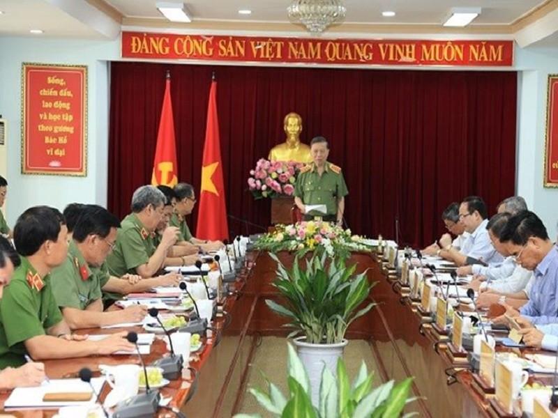Bộ trưởng Bộ Công an làm việc tại tỉnh Đồng Nai   - ảnh 1