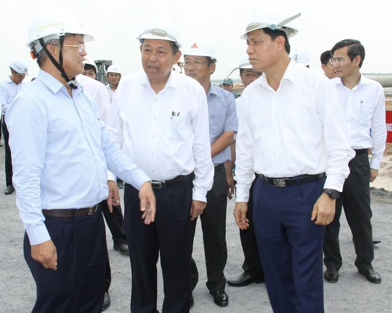 Phó Thủ tướng Chính phủ thị sát dự án sân bay Long Thành - ảnh 1