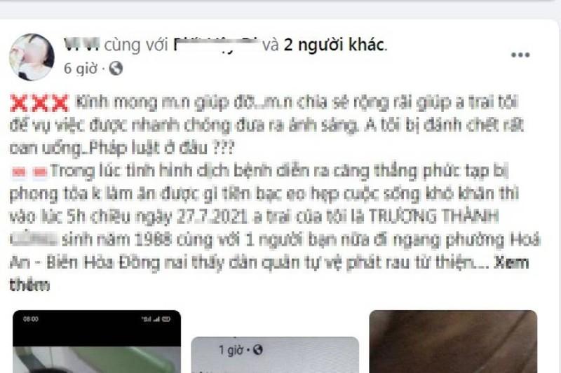 Công an thông tin về clip '1 người tử vong khi lấy rau từ thiện ở Đồng Nai' - ảnh 1