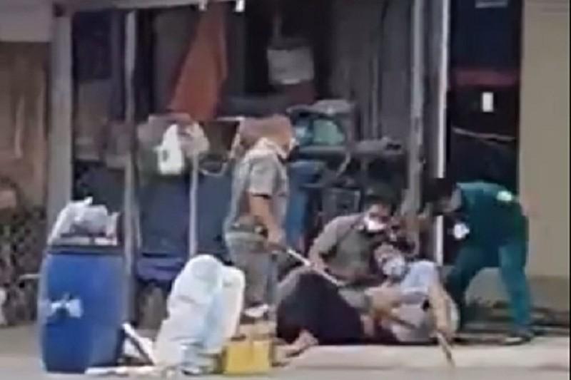 Làm rõ clip dân quân, dân phòng đánh đập người dân ở Đồng Nai - ảnh 1