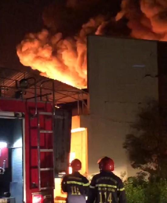 Đồng Nai: Cháy lớn tại kho của công ty may Đồng Tiến - ảnh 1