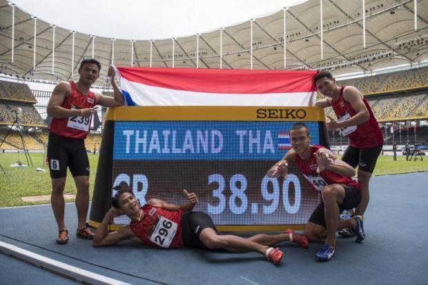 Mất HCV 4x100 m nữ vào tay VN, đội nam Thái 'máu' hơn - ảnh 1