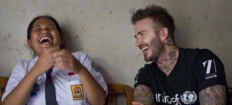 Beckham hộc tốc sang ĐNA giải quyết bạo lực học đường - ảnh 5