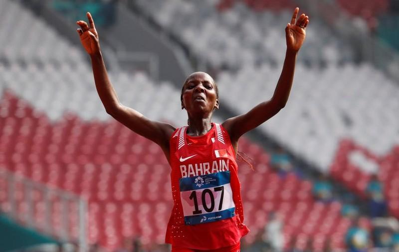 Bahrain đoạt HCV marathon nữ - ảnh 1