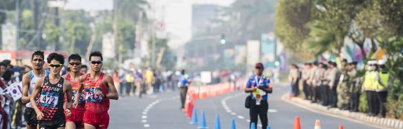 Nhật Bản giành vàng đi bộ 50 km - ảnh 1