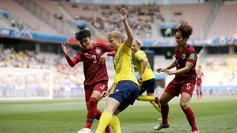 World Cup 2019: Ghi 1 bàn tại World Cup, Thái Lan mừng như hội - ảnh 3