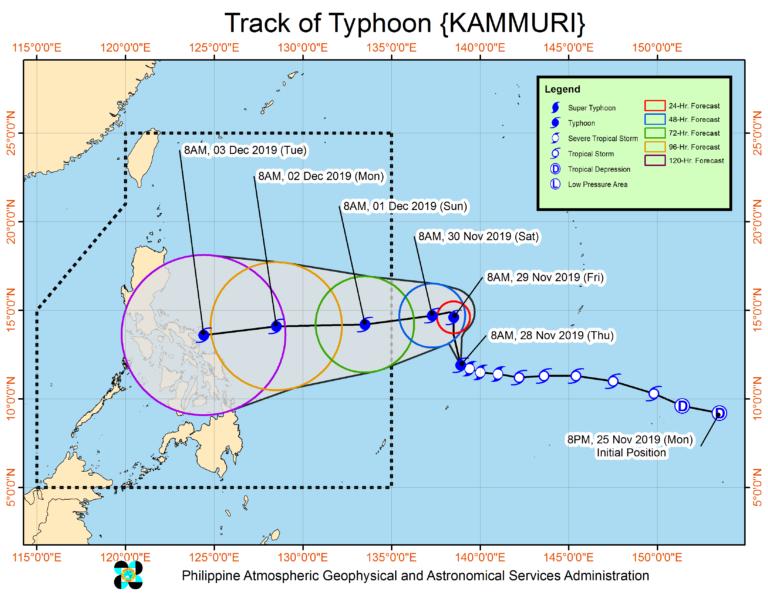 Siêu bão Kammuri liên tục thay đổi - ảnh 2