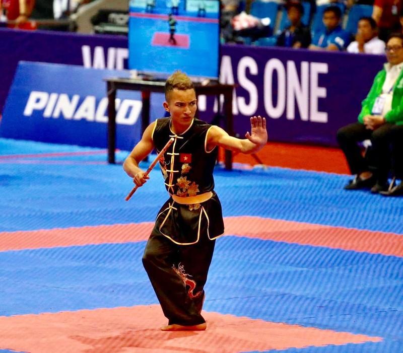 Võ gậy và Wushu tiếp tục 'gặt vàng' SEA Games 30 - ảnh 1