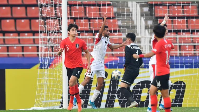 'Siêu phẩm' phút bù giờ đưa Hàn Quốc vào bán kết U-23 châu Á - ảnh 1