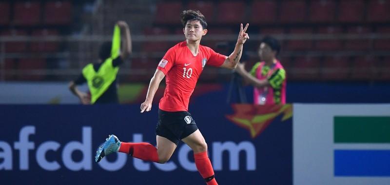 'Siêu phẩm' phút bù giờ đưa Hàn Quốc vào bán kết U-23 châu Á - ảnh 2