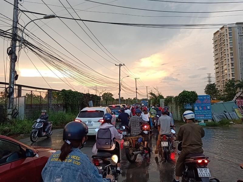 Dân TP.HCM ngán ngẩm khi lưu thông trên đường Đỗ Xuân Hợp - ảnh 2