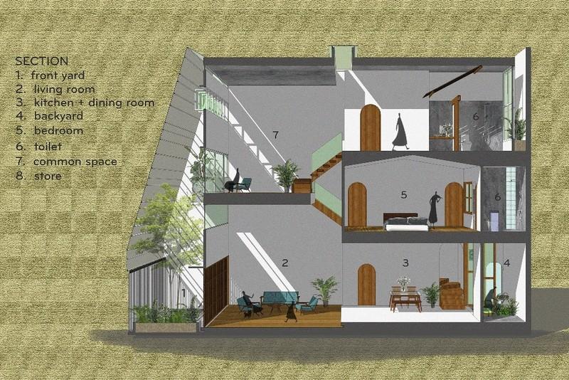 Không gian đa lớp trong ngôi nhà vỏn vẹn 73 m2  - ảnh 11