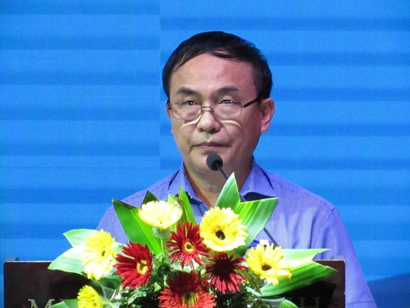 Ông Phạm Văn Ba - Phó chánh văn phòng BCĐ Nhân quyền của Chính phủ tại hội thảo.