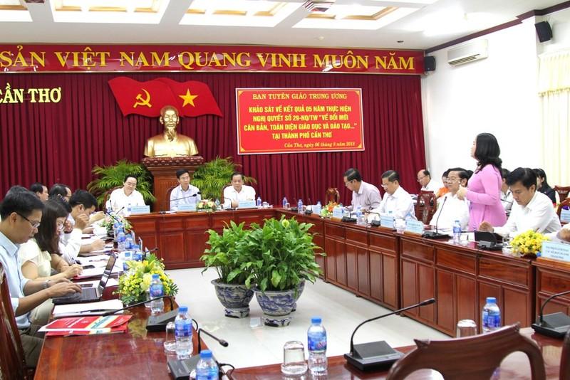 Ông Võ Văn Thưởng: 'Mong giáo dục Cần Thơ luôn dẫn đầu ĐBSCL' - ảnh 2