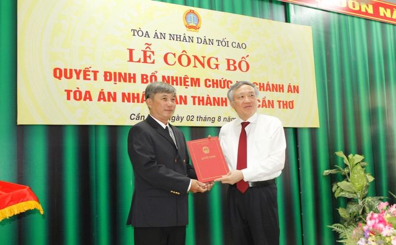 Thẩm phán Thái Quang Hải giữ chức chánh án TAND TP Cần Thơ - ảnh 1
