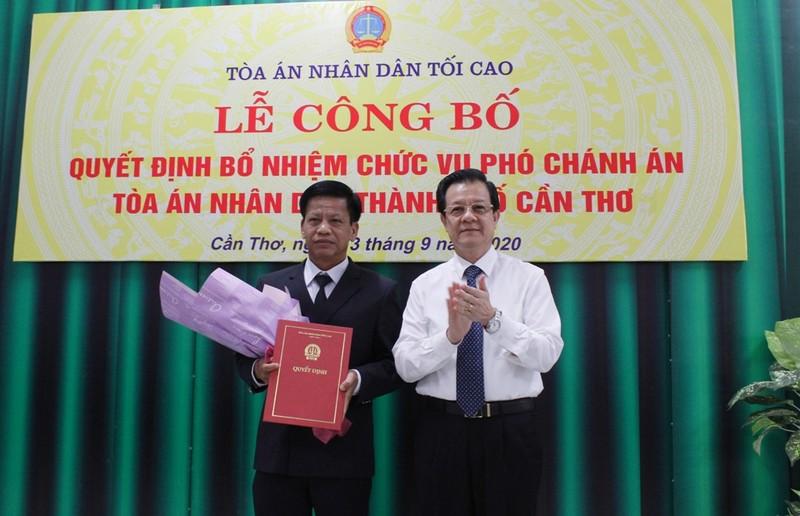 TAND TP Cần Thơ có Phó Chánh án mới - ảnh 1
