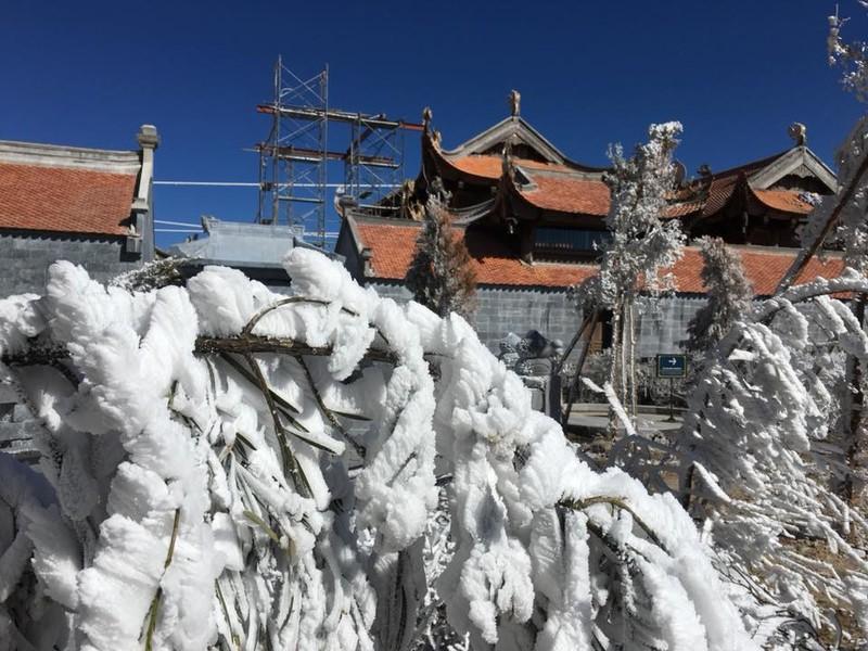 Ngắm băng tuyết phủ trắng đỉnh Fansipan - ảnh 9
