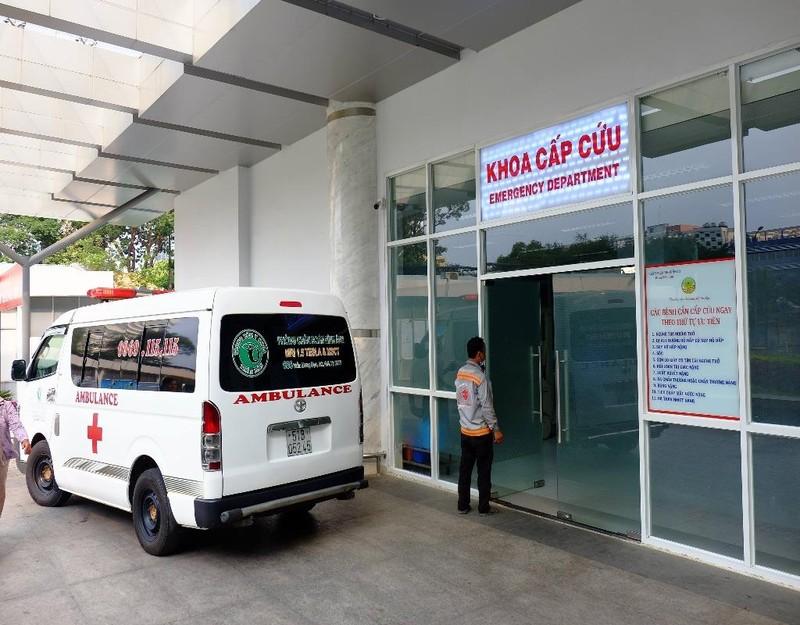 Khoa cấp cứu bệnh viện Nhi đồng 2 TP.HCM tiếp nhận bệnh nhi chiều tối 11-3.