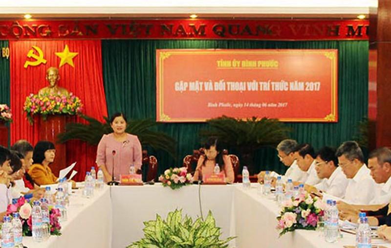 Tỉnh ủy Bình Phước đối thoại với trí thức  - ảnh 1