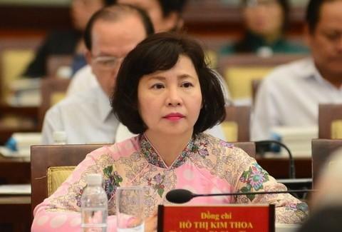 Ban Bí thư miễn nhiệm chức vụ bà Hồ Thị Kim Thoa - ảnh 1