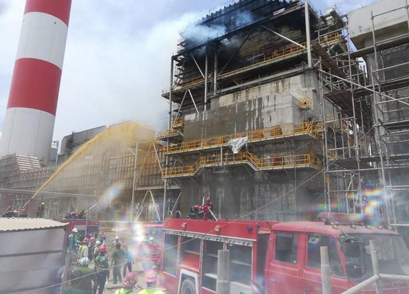 Cháy dữ dội nhà máy nhiệt điện Duyên Hải ở Trà Vinh - ảnh 4