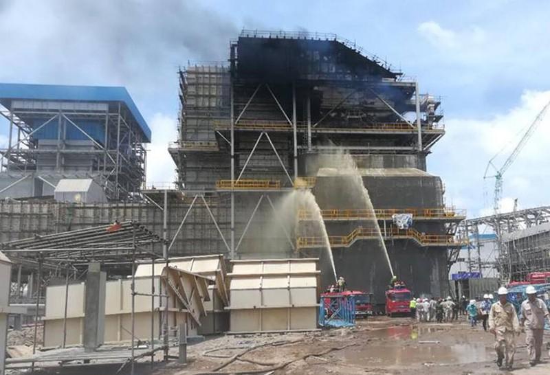 Cháy dữ dội nhà máy nhiệt điện Duyên Hải ở Trà Vinh - ảnh 5