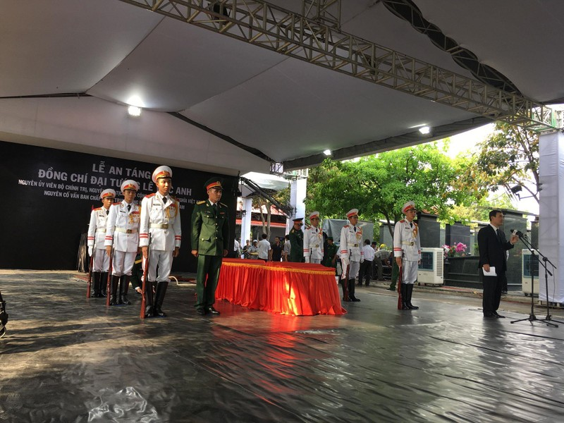 Lễ an táng Đại tướng Lê Đức Anh tại Nghĩa trang TP.HCM - ảnh 16