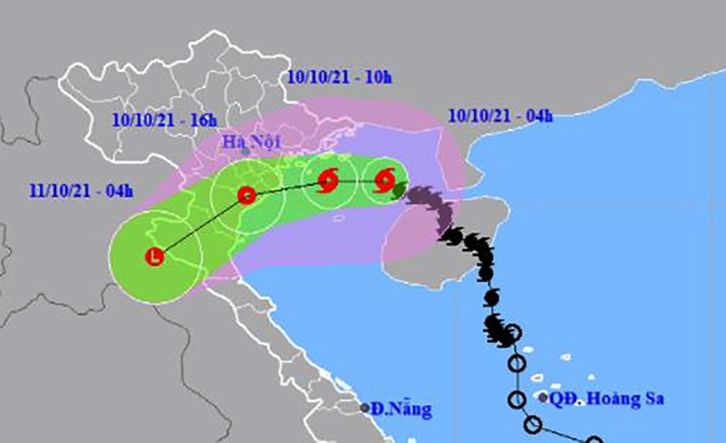 Tâm bão số 7 giật cấp 10 đang cách Hải Phòng 130 km - ảnh 1