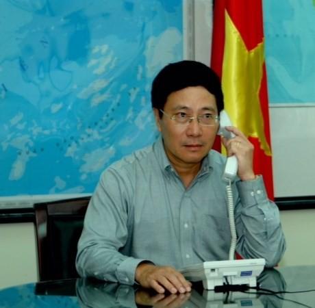 Nội dung cuộc điện đàm của Bộ trưởng Ngoại giao VN với người đồng cấp TQ  - ảnh 1