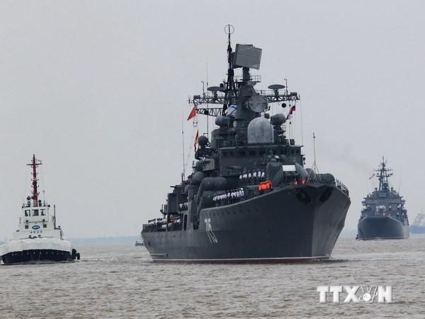 """Nga-Trung bắt đầu cuộc tập trận """"Tương tác Hải quân 2014"""" tại biển Đông - ảnh 1"""
